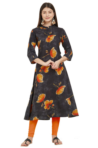 Admyrin Multi Color Rayon Printed Kurti