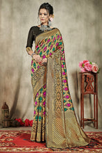 Load image into Gallery viewer, Bhelpuri Multi Banarasi Art Silk Saree with Blouse Piece