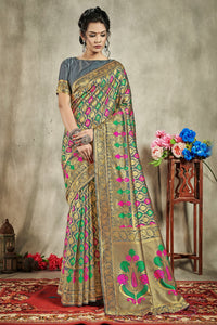 Bhelpuri Multi Banarasi Art Silk Saree with Blouse Piece