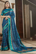 Load image into Gallery viewer, Bhelpuri Multicoloured Weaving Silk Woven Saree with Blouse Piece