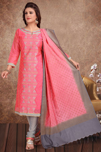 Bhelpuri Banarasi Silk Jaquard Strawberry Designer Party Wear Salwar Suit