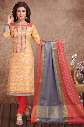Bhelpuri Banarasi Silk Offwhite & Gold Designer Party Wear Salwar Suit