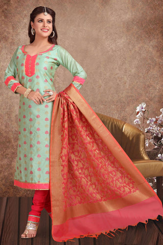Bhelpuri Banarasi Silk Green Designer Party Wear Salwar Suit