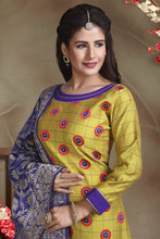 Load image into Gallery viewer, Bhelpuri South Silk Cotton Green Designer Party Wear Salwar Suit