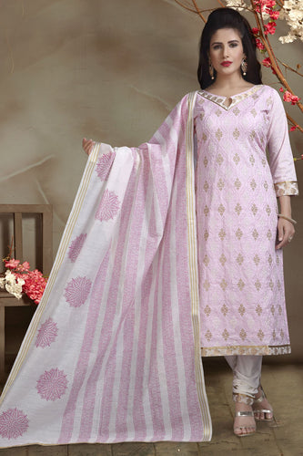 Bhelpuri Banarasi Silk Baby Pink Designer Party Wear Salwar Suit