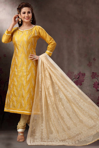 Bhelpuri Banarasi Silk Gold Designer Party Wear Salwar Suit