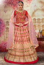 Load image into Gallery viewer, Bhelpuri Light Pink Heavy Net Embroidered Heavy Designer Weadding Wear Bridal Lehenga Choli