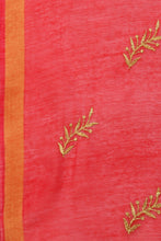 Load image into Gallery viewer, Bhelpuri Red Linen Tissue Embroidery Fancy Dupatta