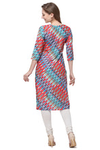 Load image into Gallery viewer, Admyrin Multi Colour Cotton Muslin Straight Fit Digitally Printed Kurti
