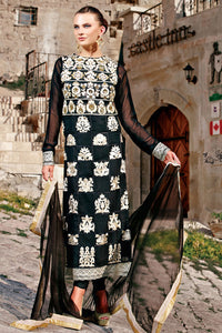 Bhelpuri Black Georgette Salwar Kameez with Chiffon Dupatta Having Embroidery Work