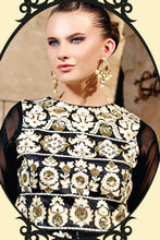 Load image into Gallery viewer, Bhelpuri Black Georgette Salwar Kameez with Chiffon Dupatta Having Embroidery Work
