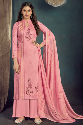 Bhelpuri Pink Pure Zam Cotton Pink Designer Pure Zam Cotton Digital Printed Plazzo Suit