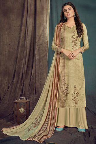 Bhelpuri Gold Pure Zam Cotton Gold Designer Pure Zam Cotton Digital Printed Plazzo Suit