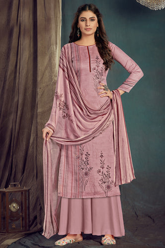 Bhelpuri Old Rose Pure Zam Cotton Old Rose Designer Pure Zam Cotton Digital Printed Plazzo Suit