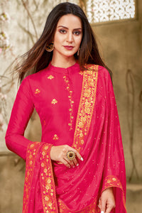 Bhelpuri Red Jecard silk Latest Designer Salwar Suit with Dupatta