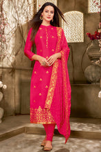Load image into Gallery viewer, Bhelpuri Red Jecard silk Latest Designer Salwar Suit with Dupatta