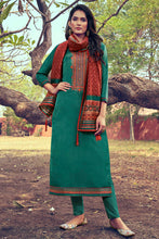 Load image into Gallery viewer, Bhelpuri Green Mini Silk Heavy Embroidred Designer Salwar Suit with Dupatta