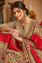 Load image into Gallery viewer, Bhelpuri Pure Wool Pashmina Beige Winter Special Pure Pashmina Printed Patiala Suit