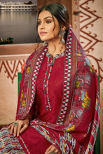 Load image into Gallery viewer, Bhelpuri Pure Wool Pashmina Maroon Winter Special Pure Pashmina Printed Patiala Suit