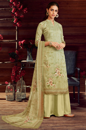 Bhelpuri Pista Pure Zam Cotton Pista Latest Designer Party Wear Pure Zam Cotton Plazzo Suit