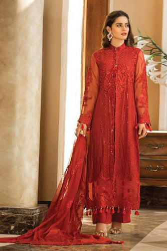Bhelpuri Red Fox Georgette  Latest Designer Embroidred Party Wear Pakistani Suit