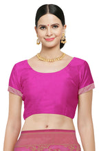 Load image into Gallery viewer, Bhelpuri Pink Banarasi Art Silk Woven With Jacquard Soild Work Traditional Saree with Blouse Piece