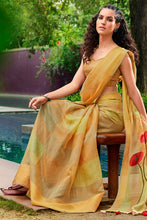 Load image into Gallery viewer, Bhelpuri Multi Cotton Printed Traditional Saree with Blouse Piece