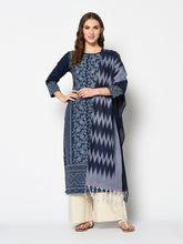 Load image into Gallery viewer, Bhelpuri Navy Blue Pure Cotton Woven Designer Party Wear Salwar Suit