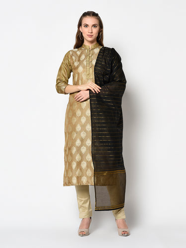 Bhelpuri Beige Cotton Jacquard Woven Designer Party Wear Salwar Suit