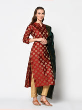 Load image into Gallery viewer, Bhelpuri Maroon Pure Cotton Woven Designer Party Wear Salwar Suit