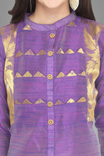 Load image into Gallery viewer, Admyrin Delightful Violet Cotton Silk Woven Kurti