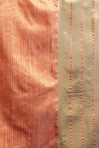 Bhelpuri Peach Cotton Silk Woven Saree with Cotton Blouse Piece