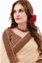 Load image into Gallery viewer, Bhelpuri Multi Colour Half n Half Saree with Bhagalpuri Silk Blouse Piece