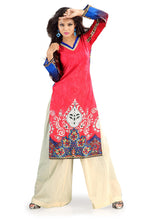 Load image into Gallery viewer, Red Cotton Printed Kurti