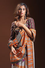 Load image into Gallery viewer, Bhelpuri Cream and Orange Pure Cotton Digitally Printed Saree
