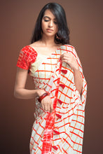 Load image into Gallery viewer, Bhelpuri Cream Bemberg Georgette Printed Saree