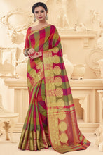 Load image into Gallery viewer, Bhelpuri Multi Art Silk Printed Saree with Art Silk Blouse Piece