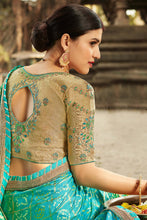 Load image into Gallery viewer, Bhelpuri Green Dola Silk Saree