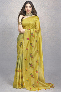 Bhelpuri Gold Colour Banarasi Super Net Silk Saree