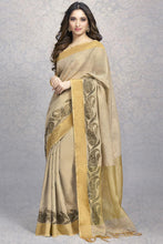 Load image into Gallery viewer, Bhelpuri Beige Banarasi Super Net Silk Saree