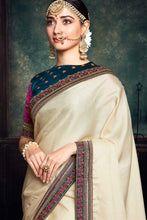 Load image into Gallery viewer, Bhelpuri Beige Silk Saree