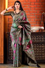 Load image into Gallery viewer, Bhelpuri Multi Colour Banarasi Silk Saree