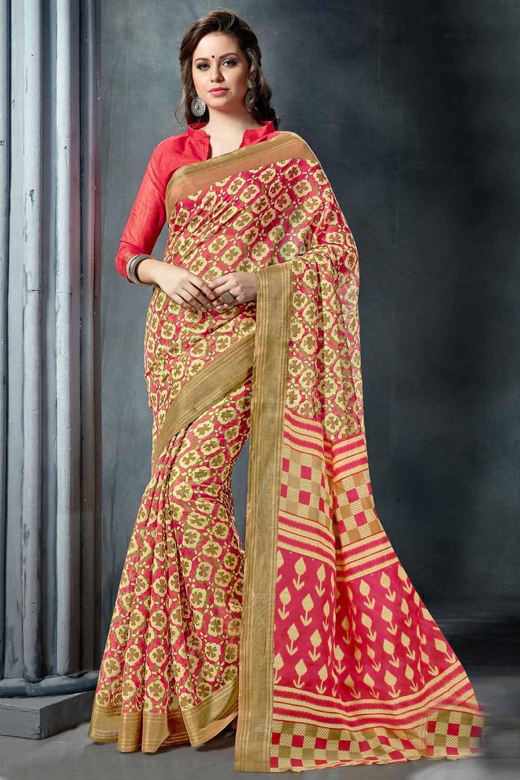 Bhelpuri Multi Colour Fancy Cotton Saree
