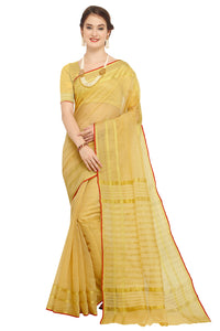 Bhelpuri Beige Raw Silk Woven Saree with Blouse Piece
