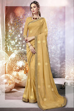Load image into Gallery viewer, Bhelpuri Beige Georgette Saree