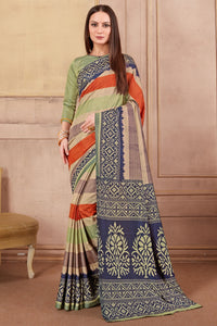 Bhelpuri Multi Colour Dhakai Silk Saree