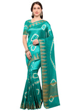 Load image into Gallery viewer, Bhelpuri Green Raw Silk Hand Dyed Saree with Blouse Piece