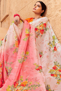 Bhelpuri Light Pink Linen Saree