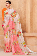 Load image into Gallery viewer, Bhelpuri Light Pink Linen Saree