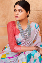Load image into Gallery viewer, Bhelpuri Multi Colour Linen Saree